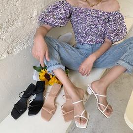 Fashion Square Toe Thick Bottom Slippers NSHU31909