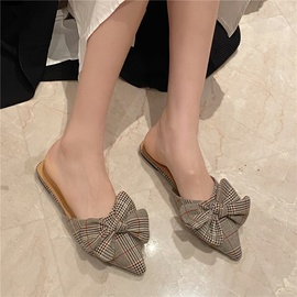 New Pointed Bow Flat-bottomed Mules NSHU31927