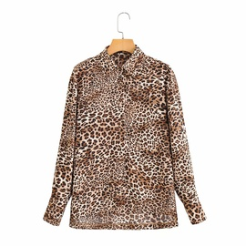 Loose Lapel Leopard Long-sleeved Shirt NSAM32052