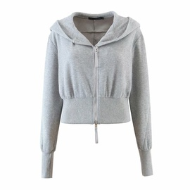 Fashion Trend Hooded Sweatjacket  NSAM32061