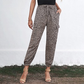 Leopard Print Casual Pants   NSSI32101