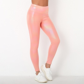 Stretch Pearl Shiny Surface Yoga Pants NSLX32114