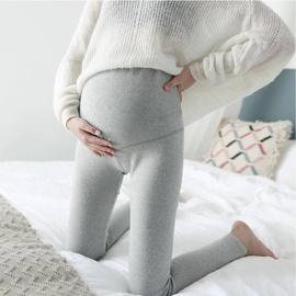Pregnant Mother Plus Velvet Thick Winter Comfortable Cotton Stretch Slim High Waist Belly Lift Leggings NSXY32495