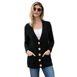 Button Long Sleeves Cardigan   NSSI32905