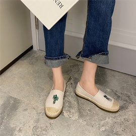 Flat Bottom Embroidery Soft Casual Shoes NSHU33097
