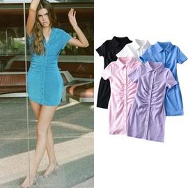 Casual Fashion Simple Short-sleeved Dress  NSLD33204