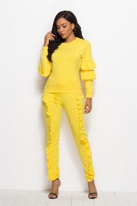 Fashion Stitching Long-sleeved  Jumpsuit NSLM33242