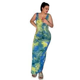 Fashion Solid Color Sexy Vest Long Dress  NSLM33244