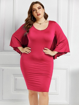 Stretch Fashion Sexy Plus Size Dress NSLM33285