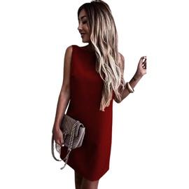 Fashion Solid Color Backless Dress  NSLZ33304