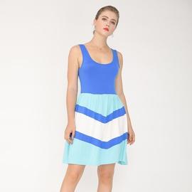 Fashion Halter Casual Stitching Dress  NSJR33362