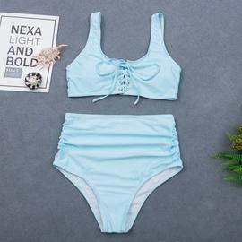 New Sexy Backless High Waist Split Bikini Swimsuit NSHL33548
