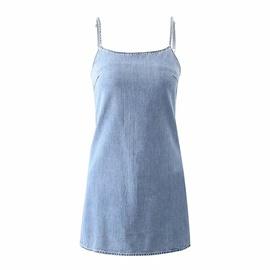 Fashion Short Denim Suspender Casual Dress  NSAC33580