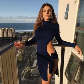 Long-sleeved High-necked Sexy Split Dress  NSZY33643