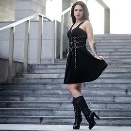 Casual Backless Sexy Waist Strap Dress  NSXE33662