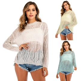 Hollow Loose Wild Pullover Sweater NSOY33777