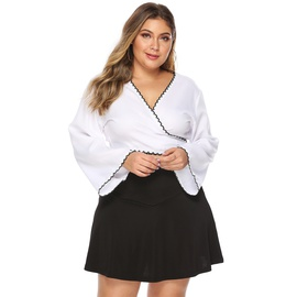 Plus Size Loose Solid Color Casual Short Skirt  NSOY33780