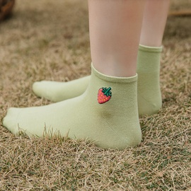 Embroidery Avocado Boat Socks   NSFN30185