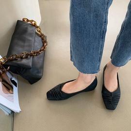 Fashion Casual Square Toe Flat Shoes NSHU33855