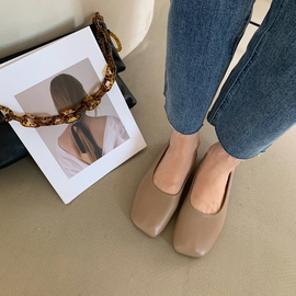 Fashion Shallow Mouth Casual Peas Shoes NSHU33856