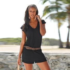 V-neck Sleeveless Beach Jumpsuit  NSKX33899