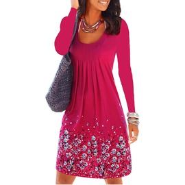 Long-sleeved Printed Loose Dress  NSKX33902