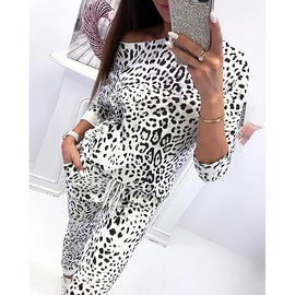 New Leopard Print Long-sleeved Casual Set NSZH33907
