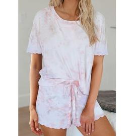 Summer Casual Printing Tie-dye Gradient Pajamas  NSZH33911