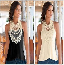 Lace Stitching Vest NSYF33932