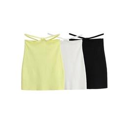 Short High Waist Solid Color Skirt NSLD33939