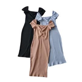 Stretch Slim Short-sleeved Dress  NSLD33941