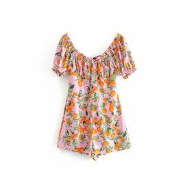 Fashion Print Short Sleeve Jumpsuit NSAM33964