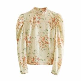 Fashion Printed Puff Sleeve Blouse NSAM33985