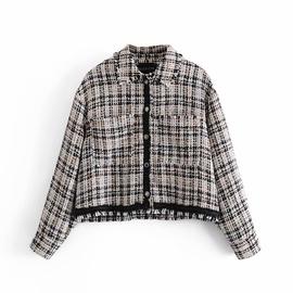Spring Plaid Texture Jacket  NSAM33993