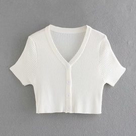 New Simple Knitted Short Sleeve Short Cardigan  NSAM34003