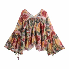 Spring Print Sun Protection Style Blouse  NSAM34018