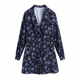 Fashion V-neck Print Jumpsuit Shorts NSAM34031