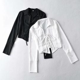Hollow Lace-up Short Sunscreen Shirt NSAC34044
