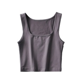 Sexy Square Neck Fitness Bottoming Vest NSAC34050