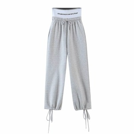 Fashion High-waist Webbing Sweatpants  NSHS34172