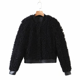 Stand-up Collar New Loose Wool Jacket  NSHS34175