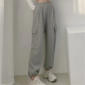 Spring All-match High-waist Straight Mopping Pants NSAC24914