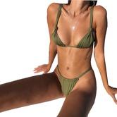 Sexy Bikini Dividido De Color Degradado NSHL25121