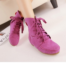 Suede Candy-colored Short Boots  NSSO26376