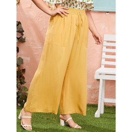 Plus Size High Waist Casual Wide Leg Pants NSSA26496