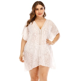Plus Size Chiffon Stitching Beach Dress  NSOY26816