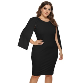 Plus Size Irregular Raglan Sleeve Dress  NSOY26844