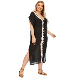 Plus Size Hook Stitching Beach Dress NSOY26856