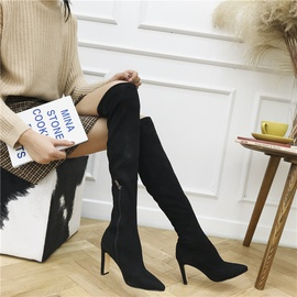 Autumn And Winter Thick High Heel Knee Boots  NSHU26928