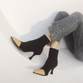 Autumn And Winter High-heeled Stiletto Martin Boots   NSHU26957